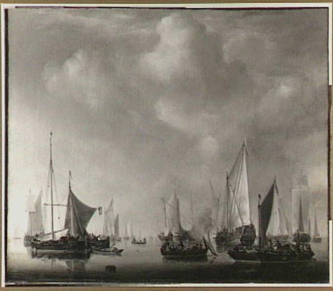 "possibly after <a class=""recordlink artists"" href=""/explore/artists/79794"" title=""Willem van de Velde (II)""><span class=""text"">Willem van de Velde (II)</span></a>"