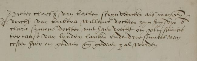 Leiden, 1545-07-27, Schepenbank (Oud Rechterlijk Archief), nummer toegang 0508, inv 42+20 (Wedboek 1545)