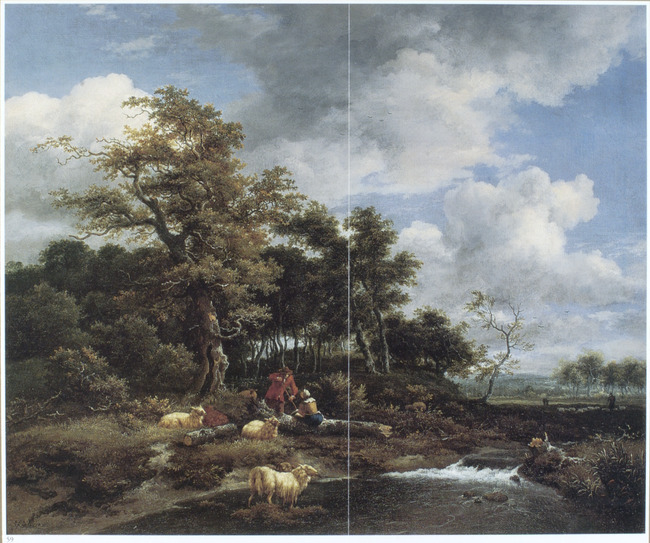 "<a class=""recordlink artists"" href=""/explore/artists/68835"" title=""Jacob van Ruisdael""><span class=""text"">Jacob van Ruisdael</span></a> and attributed to <a class=""recordlink artists"" href=""/explore/artists/79763"" title=""Adriaen van de Velde""><span class=""text"">Adriaen van de Velde</span></a>"