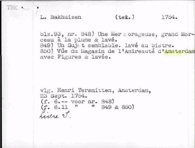 Bakhuizen, Ludolf, baknummer 014