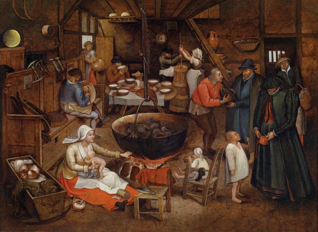 "<a class=""recordlink artists"" href=""/explore/artists/13293"" title=""Pieter Brueghel (II)""><span class=""text"">Pieter Brueghel (II)</span></a> mogelijk naar <a class=""recordlink artists"" href=""/explore/artists/13292"" title=""Pieter Bruegel (I)""><span class=""text"">Pieter Bruegel (I)</span></a>"