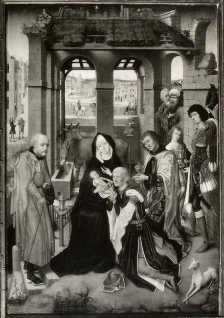 """toegeschreven aan <a class=""""recordlink artists"""" href=""""/explore/artists/53622"""" title=""""Meester van de Legende van de Heilige Catharina""""><span class=""""text"""">Meester van de Legende van de Heilige Catharina</span></a> naar <a class=""""recordlink artists"""" href=""""/explore/artists/83963"""" title=""""Rogier van der Weyden""""><span class=""""text"""">Rogier van der Weyden</span></a>"""