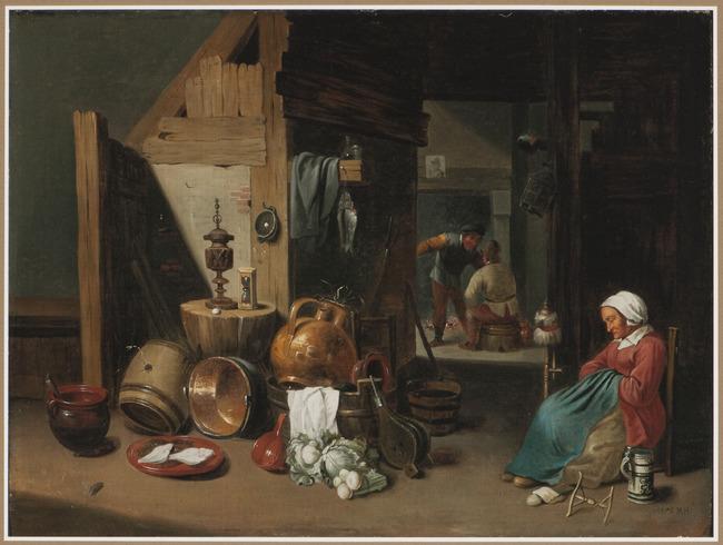 "<a class=""recordlink artists"" href=""/explore/artists/52002"" title=""Cornelis Mahu""><span class=""text"">Cornelis Mahu</span></a> after <a class=""recordlink artists"" href=""/explore/artists/76786"" title=""David Teniers (II)""><span class=""text"">David Teniers (II)</span></a>"