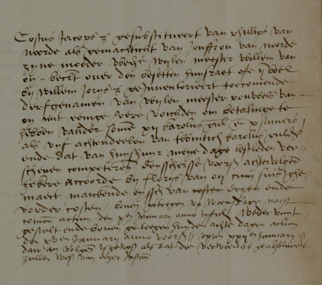 Leiden, 1549-12-16, Schepenbank (Oud Rechterlijk Archief), nummer toegang 0508, inv. no. 42+24 (Wedboek 1549-1550)