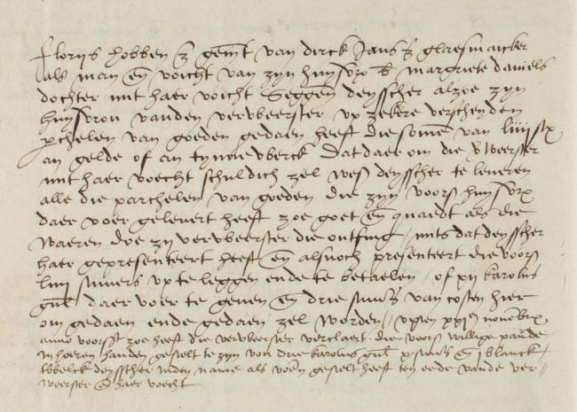 Leiden, 1544-11-14, Schepenbank (Oud Rechterlijk Archief), nummer toegang 0508, inv. no. 42+19 (Wedboek 1544-1545)