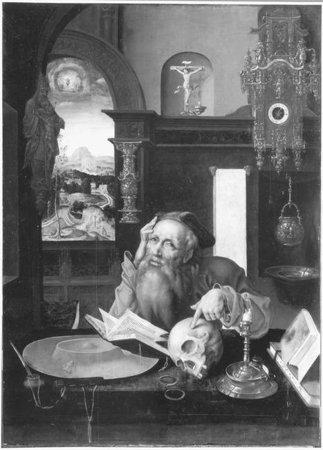 "vrij naar <a class=""recordlink artists"" href=""/explore/artists/17248"" title=""Joos van Cleve""><span class=""text"">Joos van Cleve</span></a> en toegeschreven aan <a class=""recordlink artists"" href=""/explore/artists/66452"" title=""Marinus van Reymerswale""><span class=""text"">Marinus van Reymerswale</span></a>"