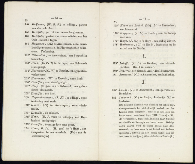 Hove, Bartholomeus Johannes van, catalogusnummer 173, 1841, Doorzigt door eene poort