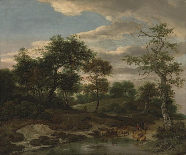 "<a class=""recordlink artists"" href=""/explore/artists/68835"" title=""Jacob van Ruisdael""><span class=""text"">Jacob van Ruisdael</span></a> en trant van <a class=""recordlink artists"" href=""/explore/artists/79763"" title=""Adriaen van de Velde""><span class=""text"">Adriaen van de Velde</span></a>"