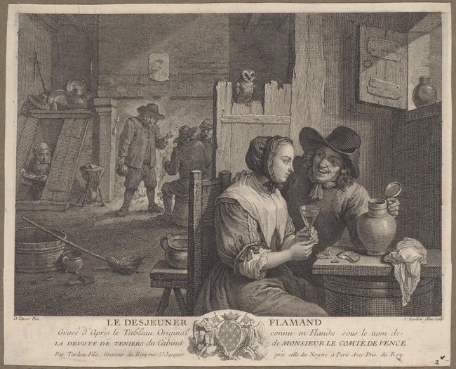 "<a class=""recordlink artists"" href=""/explore/artists/76511"" title=""Jacques Nicolas Tardieu""><span class=""text"">Jacques Nicolas Tardieu</span></a> after <a class=""recordlink artists"" href=""/explore/artists/76786"" title=""David Teniers (II)""><span class=""text"">David Teniers (II)</span></a>"