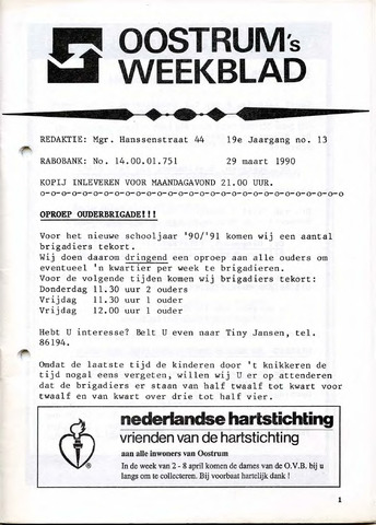 Oostrum's Weekblad 1990-03-29