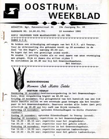 Oostrum's Weekblad 1981-11-12