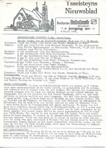 Ysselsteyns Nieuwsblad 1979-03-09