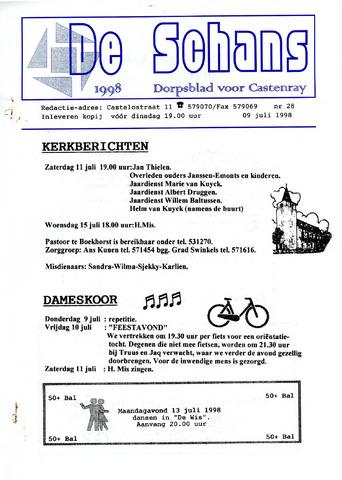 Castenrays dorpsblad De Schans 1998-07-09