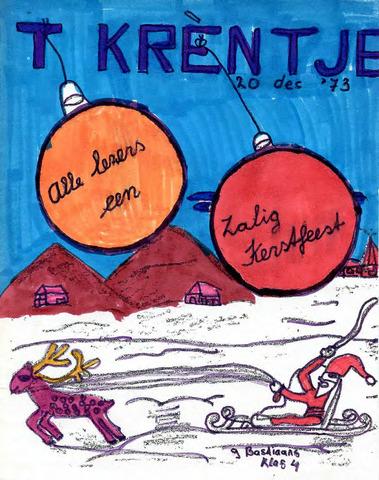 Oirlo's dorpsblad 't Krèntje 1973-12-20