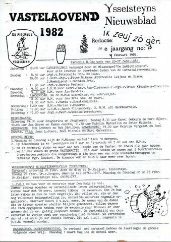 Ysselsteyns Nieuwsblad 1982-02-19