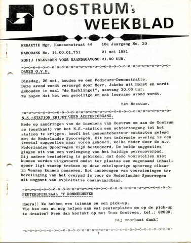 Oostrum's Weekblad 1981-05-21