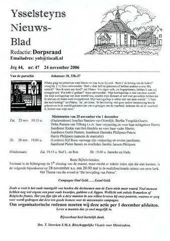 Ysselsteyns Nieuwsblad 2006-11-24
