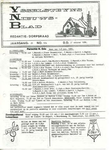 Ysselsteyns Nieuwsblad 1986-10-31