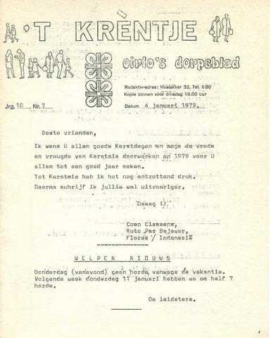 Oirlo's dorpsblad 't Krèntje 1979