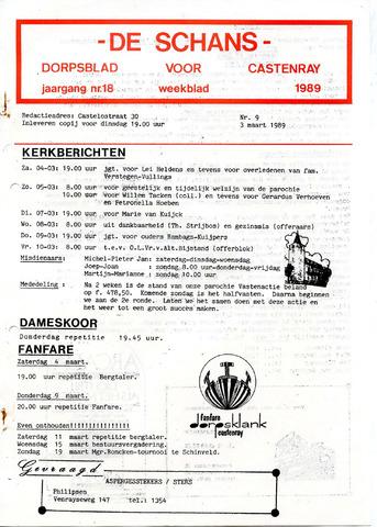 Castenrays dorpsblad De Schans 1989-03-03