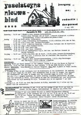 Ysselsteyns Nieuwsblad 1982-05-21