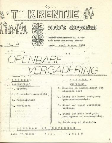 Oirlo's dorpsblad 't Krèntje 1979-11-08