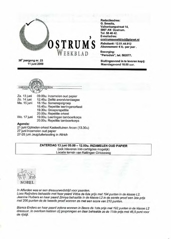 Oostrum's Weekblad 2009-06-11