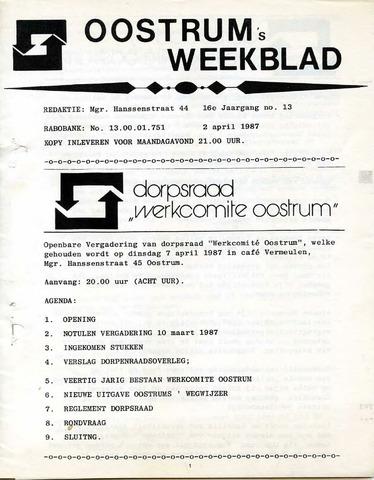 Oostrum's Weekblad 1987-04-02