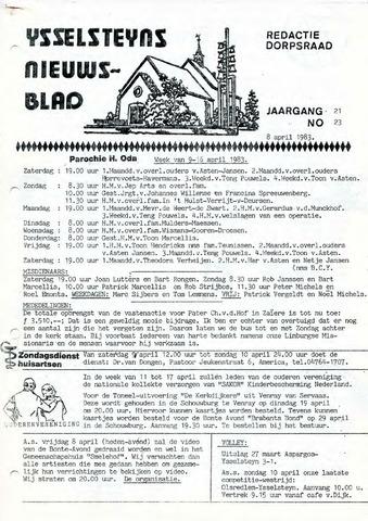 Ysselsteyns Nieuwsblad 1983-04-08