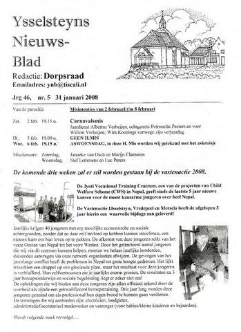 Ysselsteyns Nieuwsblad 2008-01-31