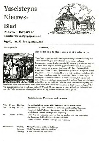 Ysselsteyns Nieuwsblad 2008-08-29