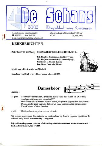 Castenrays dorpsblad De Schans 2002-06-26