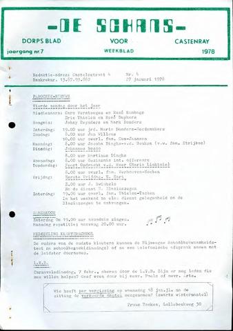 Castenrays dorpsblad De Schans 1978-01-27