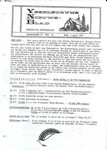 Ysselsteyns Nieuwsblad 1991-03-01