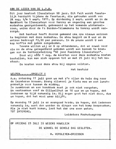 Oirlo's dorpsblad 't Krèntje 1971-07-16