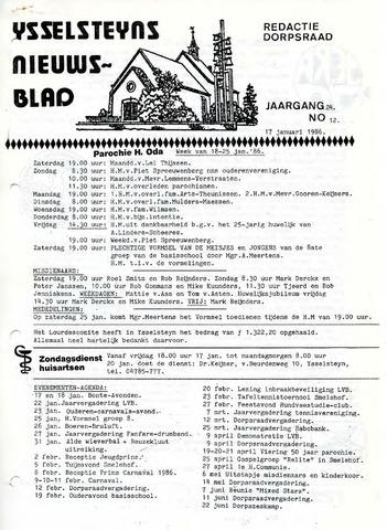 Ysselsteyns Nieuwsblad 1986-01-17