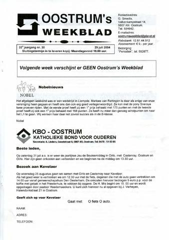 Oostrum's Weekblad 2004-07-29