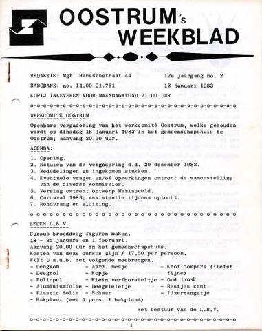 Oostrum's Weekblad 1983-01-13