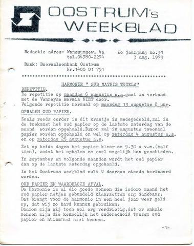 Oostrum's Weekblad 1973-08-03