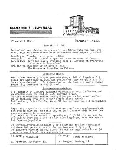 Ysselsteyns Nieuwsblad 1966-01-27