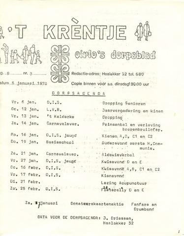 Oirlo's dorpsblad 't Krèntje 1978