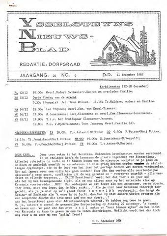 Ysselsteyns Nieuwsblad 1987-12-11