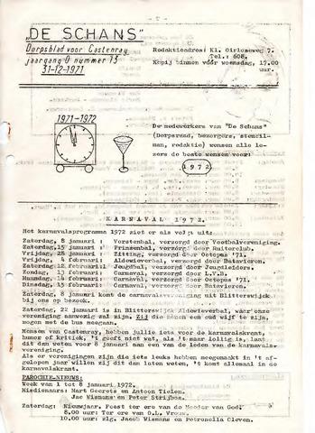 Castenrays dorpsblad De Schans 1971-12-31