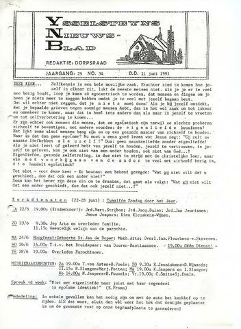 Ysselsteyns Nieuwsblad 1991-06-21