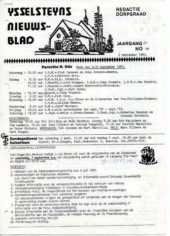 Ysselsteyns Nieuwsblad 1983-09-02