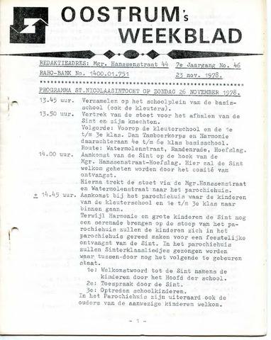 Oostrum's Weekblad 1978-11-23