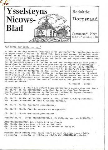 Ysselsteyns Nieuwsblad 1997-10-17