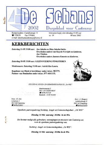 Castenrays dorpsblad De Schans 2002-05-08