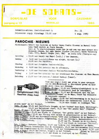Castenrays dorpsblad De Schans 1983-08-05