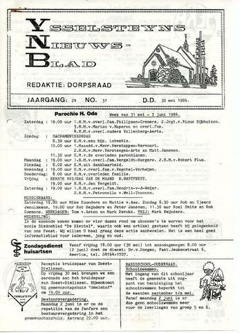 Ysselsteyns Nieuwsblad 1986-05-30
